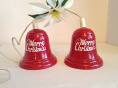 Vintage Christmas Happery New Year Light up Bells on Etsy, $35.00