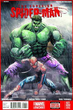 #Hulk #Fan #Art. (spiderman hulk cover) By: Perfectionist7. (THE * 5 * STÅR * ÅWARD * OF: * AW YEAH, IT'S MAJOR ÅWESOMENESS!!!™)[THANK Ü 4 PINNING!!!<·><]<©>ÅÅÅ+(OB4E)