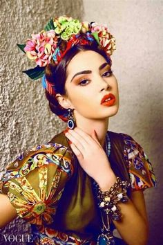 Colorful fashion editorial, Frida Kahlo style - Pin curated by http://www.thedailyfashioninspiration.com/