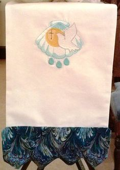 Baptism Banner for font wall altar or pulpit shell by FaithThreads, $50.00