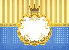 kit Fundo Príncipe Azul e Dourado