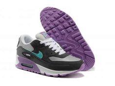 huge selection of ee85d acec9 Envío Gratis con Nike Air Max 90 Deportes Zapatos Violeta Gris Negro Online  y Nike Air Max 90 Mujeres Zapatos