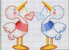 punto de cruz bebes www.hilosrosace.net