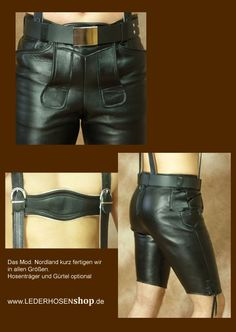 Plattlerhose schwarzes Glattleder Lederhosen, Shorts, Boys, Leather, Men, Clothes, Smooth, Black, Baby Boys