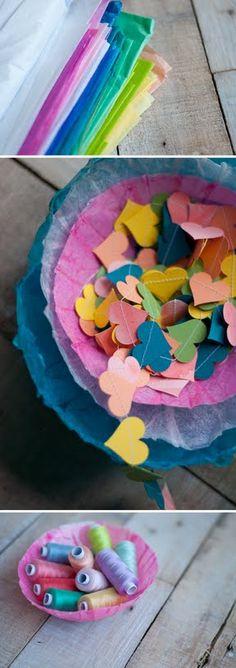 Easy DIY: Make Tissue Paper Bowls  |  Design Mom