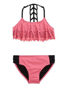 Cutout Flounce Bikini Swimsuit | Girls Bikinis Clearance Swimsuits | Shop Justice
