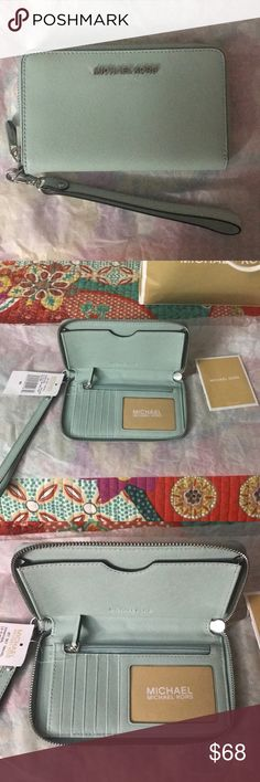a9ccbb47e678 Michael Kors Jet Set Wristlet Wallet w/ Phone Case I accept reasonable  offers. New