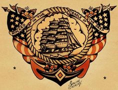 Love the old sailor jerry tattoos..