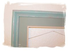 Cottage Chic Wooden Frame Painted Aqua by JoyfulMoonDesigns, $15.00