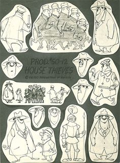 UPA Model Sheet - Cartoon Modern: Style and Design in 1950's Animation