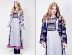 slav fashion, Russian traditional style, folk