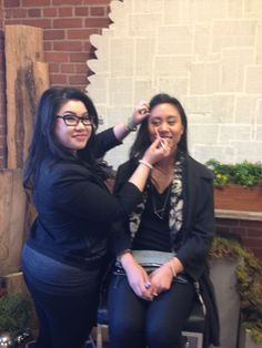 Rachel from Tarte Cosmetics glamming up one of our guests.