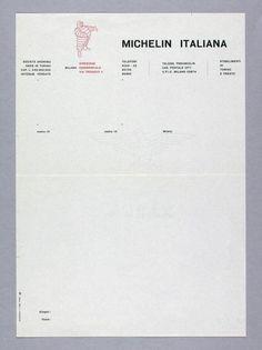 Carlo Vivarelli / Studio Boggeri, Michelin Italiana, Direzione Commerciale, Via Trebazio 4, Milano