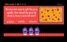 """In """"The Purple Pizza Eaters"""" students help feed the hungry monsters..."""