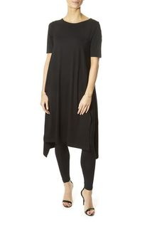 This is the 'Bita' Short Sleeve Asymmetric Dress by our friends at XD Xenia Design! This dress from Eileen Fisher is an elegant choice. Xenia Design, Blue Dresses, Dresses For Work, Black Tights, Asymmetrical Dress, Eileen Fisher, Fabric Design, Short Sleeves, Elegant
