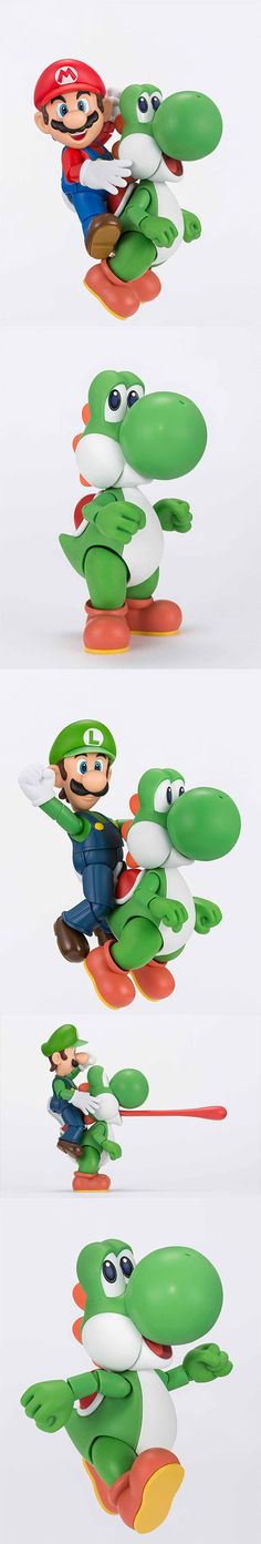You Can Pre-Order This Adorable And Happy Yoshi Figure Do you need a jaunty and cute figure for your toy collection? Then you might need this new Yoshi toy from S.H. Figuarts. It has appeal for those who don't even play Super Mario Bros.! The figure is 4.3 inches tall and comes with accessories. Read more at http://nerdapproved.com/gaming/you-can-pre-order-this-adorable-and-happy-yoshi-figure/#QT3h8FWULjcmeSp5.99