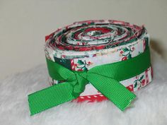 15 Christmas Jelly Roll Strips  15 in   No by sewcalico65 on Etsy, $4.45