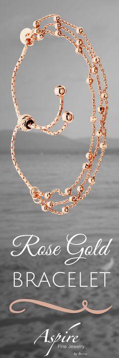Hanv Titanium Steel Blessing Long Life Lock Rhinestone Bracelets Rose Gold Bracelets for Girls with Bell