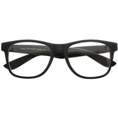 Matte Dark Gray Clear Lens Wayfarer Style Eye Glasses Frames W2131... (40 EGP) ❤ liked on Polyvore featuring accessories, eyewear, eyeglasses, glasses, sunglasses, black, wayfare, clear lens wayfarer, black eye glasses and clear lens glasses