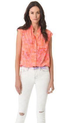 Rebecca Taylor Hibiscus Shirt