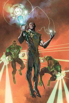 Vath Sarn, Munk (Indigo Tribe) and Isamot Kol - Green Lantern Corps #43 - LADRONN