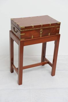 Late 19th Century British Campaign Mahogany Officer's Chest on Custom Stand image 2