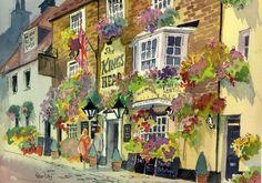 Petunias Galore, Kings Head Pub, Deal, Kent -