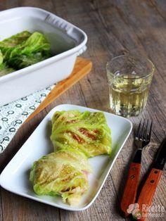 Involtini di verza con prosciutto e fontina semplici