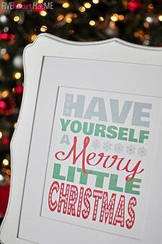 Free Christmas Printable by Five Heart Home