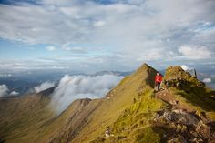 Hiker walking near the summit of Mount Snowdon. Great Places, Places To See, Beautiful Places, Wales Snowdonia, Anglesey, Just Keep Walking, Hill Walking, Places Of Interest, Greatest Adventure
