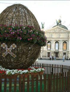 Lviv, W Ukraine, from Iryna with love Easter Egg near Opera House 2013