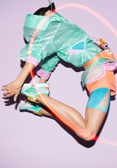 We don't really do sportswear but if we did we'd go for this colourful Stella McCartney x Adidas collaboration.