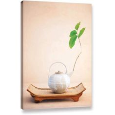 Elena Ray Zen New Leaf Gallery-Wrapped Canvas Art, Size: 16 x 24, Brown