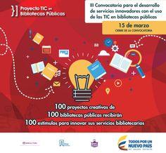 Últimos días para postularse a la III Convocatoria para el desarrollo de servicios innovadores con el uso de las TIC en bibliotecas públicas.