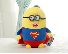 Despicable me Minions Cosplay Superman Cartoon Plush Toys Dolls 38cm @ niftywarehouse.com