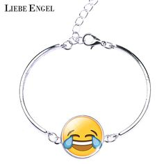 Find More Chain & Link Bracelets Information about LIEBE ENGEL Fine Jewelry Cute Emoji Vintage Silver Color Bangles Bracelets Women Newest Emoticons Glass Cabochon Chain Bangles,High Quality jewelry findings,China jewelry leather bracelet Suppliers, Cheap jewelry settings and mountings wholesale from LIEBE ENGEL Official Store on Aliexpress.com