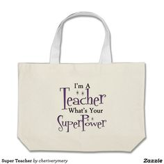 Super Teacher Jumbo Tote Bag