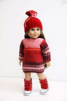 Ruby+Red.+Sweater+dress+hat+and+leg+warmers+set+for+by+StassyDodge