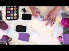 Micro Fine Glitter Tutorial - YouTube -using water clolour paint on microfine glitte