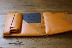No,No,Yes! Shosa ORIGAMI leather short wallet - Basic {Camel} - Backorder | UGUiSU Online Store