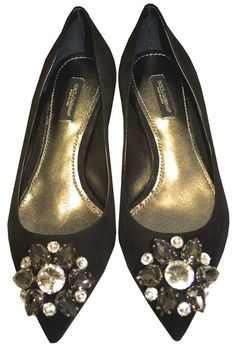 Black Swarovski Crystal Shoes - Dolce & Gabbana  http://www.room7.co.uk/what-s-new/dolce-gabbana-black-pumps.html