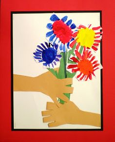Picasso inspired hands with flowers