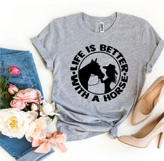 Life is Better With a Horse T-shirt - 2XL / Navy