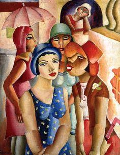 """Di Cavalcanti (1897-1976) """"Moças de Guaratinguetá"""" acervo do MASP - Museu de Arte de São Paulo/BRASIL"""