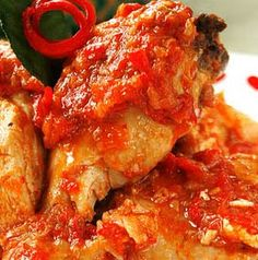 Ayam Rica Rica - Manadonese Cuisine from northeast of Celebes, Indonesia.