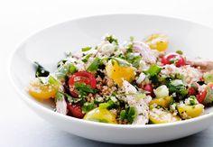 Skål med salat Cobb Salad, Quinoa, Live
