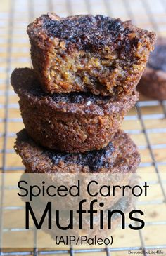 Spice Carrot Muffins made with cricket flour and beetle larvae!