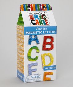 Take a look at this Uppercase Wooden Magnet Set by The World of Eric Carle on #zulily today!