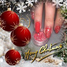 Paillettes AGP-200-12 sur VSP 285.Granada. Effet pull sur 285.Granada, gel paint Sunset et acrylique clear UV, www.onglerie.be  #christmasnailart #nail #ongle #ongles #xmasnails #rednails #onglerie #nailartist #nails #nail💅 #nailart #shownails