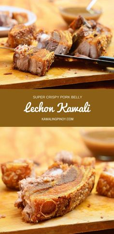Lechon Kawali is a popular Filipino dish made with pork belly simmered until tender and then deep-fried until golden and crisp. With crunchy skin and super moist meat, every morsel is pork heaven! via @lalainespins